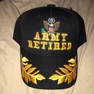 NWT, Army Retired baseball hat